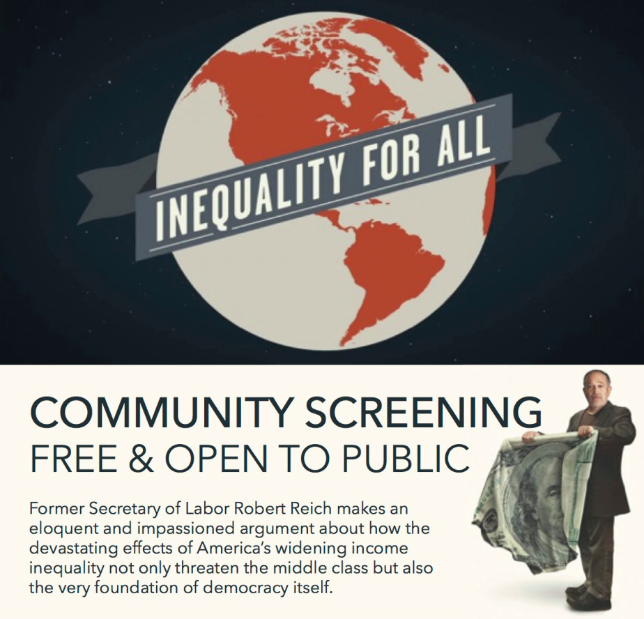 a discussion of income inequality in the film documentary inequality for all Ohio groups host columbus screening of award-winning inequality for all documentary on income inequality ohio will moderate a discussion following the film.