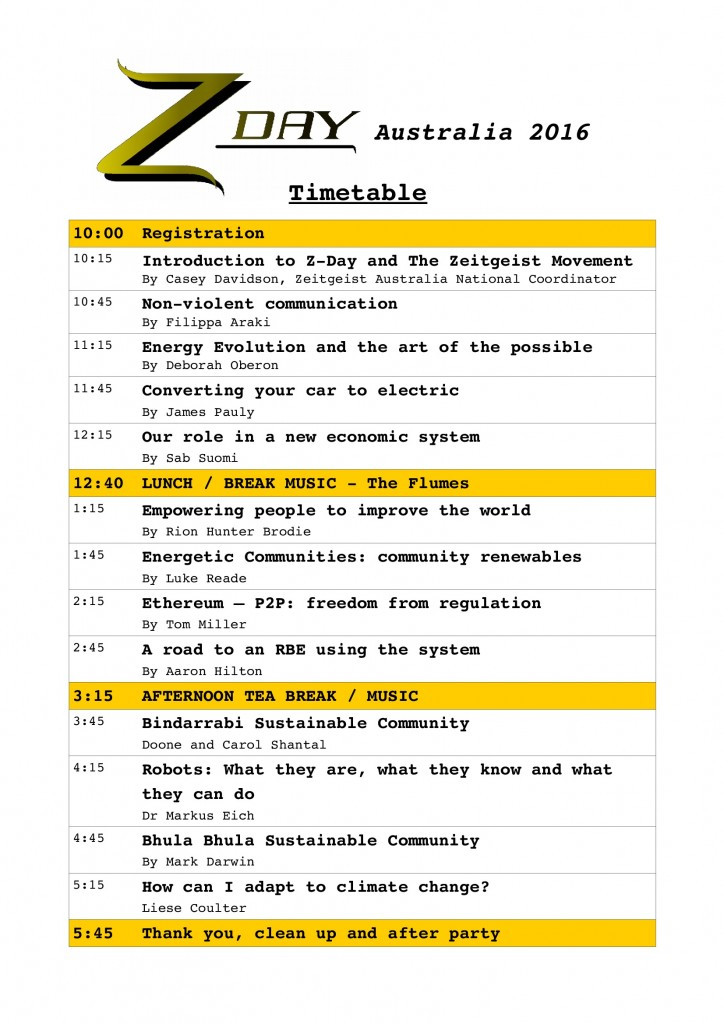 confirmed timetable